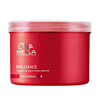 Masque cheveux colorés épais, 500ml<br/> Wella care Brilliance